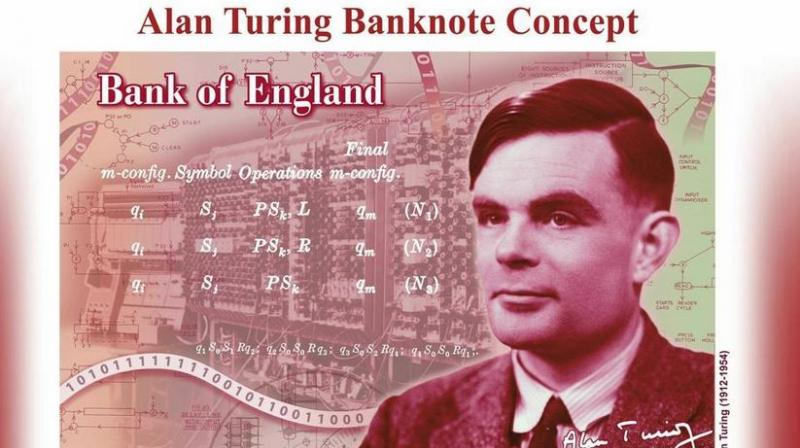 Turing's electro-mechanical machine, a forerunner of modern computers, unravelled the Enigma code used by Nazi Germany and helped give the Allies an advantage in the naval struggle for control of the Atlantic. (Photo: AP)