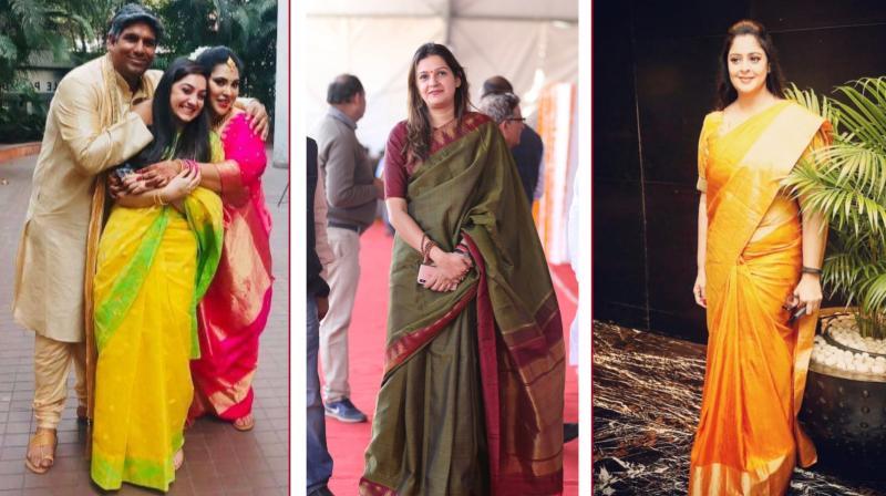 Nupur Sharma (L), Priyanka Chaturvedi (C), Nagma (R) (Photo: Twitter)