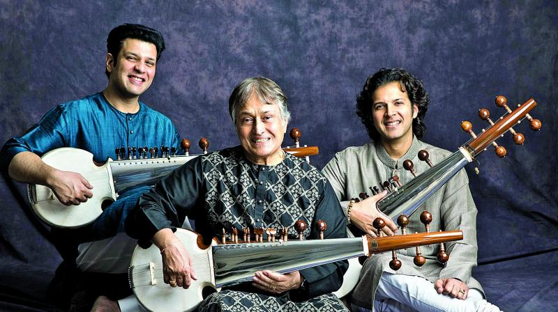 Ustad Haafiz Ali Khan, born in a house responsible for giving the sarod its present shape and structure, could make his sarod sing.
