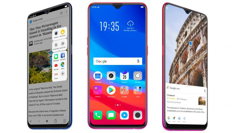 The OPPO F9 Pro offers a 6.3-inch fullscreen display with a tiny notch, a MediaTek P60 chipset, a 25MP selfie camera and VOOC Flash Charge.