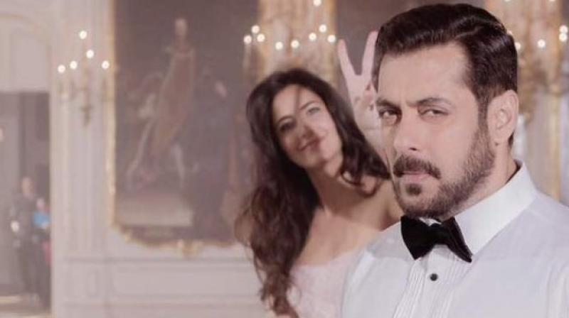 Katrina Kaif and Salman Khan.