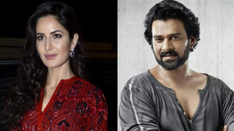 Katrina Kaif and Prabhas.