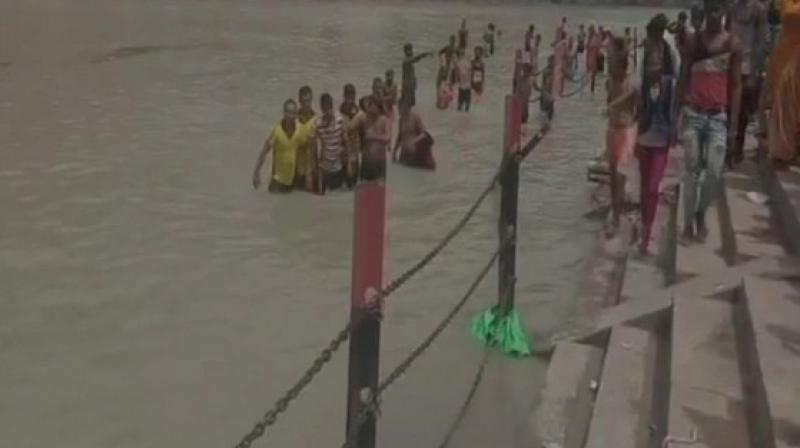 So far, eight kanwariyas have been saved from drowning, Upadhyay said, adding the police personnel who rescued the pilgrims will be honoured. (Photo: ANI)