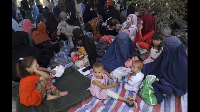More than 50,000 internally displaced people, a large number of them being women and children, are said to have taken refuge in parks and on pavements in Kabul which would fall at the pleasure of the insurgency leadership. (PTI)