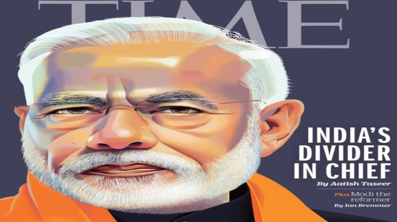 Another story in the same issue lists the achievements of Modi as the leader of India and calls him India's best hope for economic reform. (Photo: Twitter)