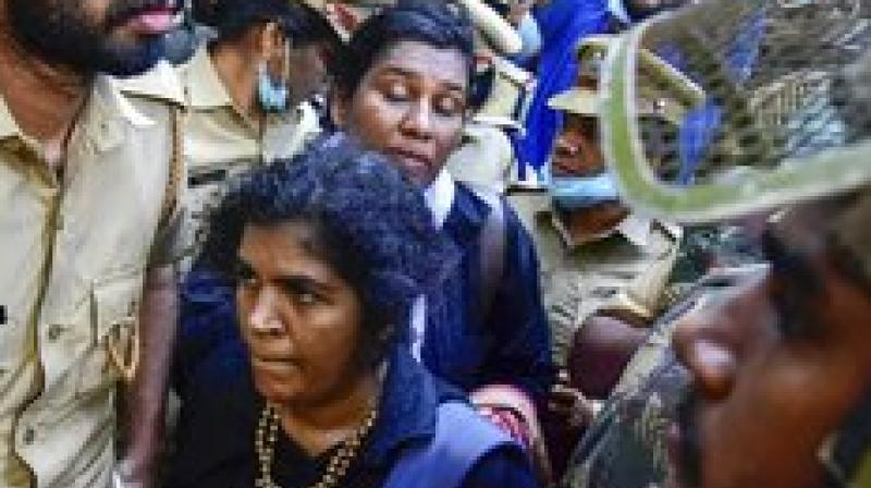 Bindu Ammini, 40, a law lecturer at Kerala's Kannur University and Kanakadurga, 39, a civil servant, said they were determined to enter despite threats of violence.(Photo: File | PTI)