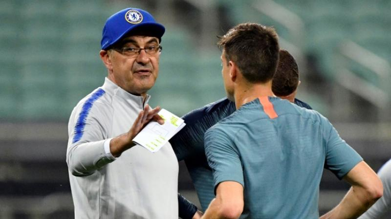 Under Sarri, Chelsea qualified for the Champions League next season and only lost the League Cup final on penalties to Manchester City who won all three domestic trophies, a record that Sarri stressed was a success. (Photo:AFP)