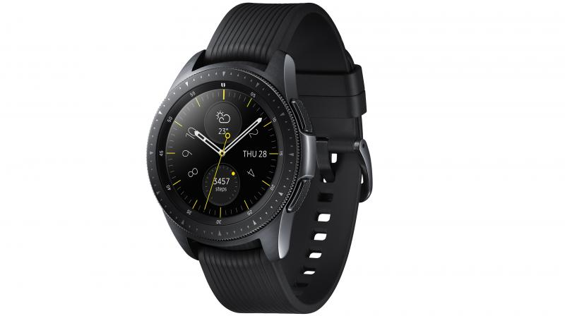 Users can customize Galaxy Watch with a wide selection of watch faces and straps.