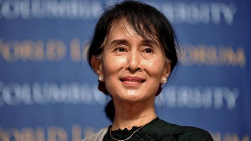 As state counsellor, Suu Kyi does not oversee the military, but she has repeatedly denied accusations that the army committed genocide against the Rohingya.(AFP)