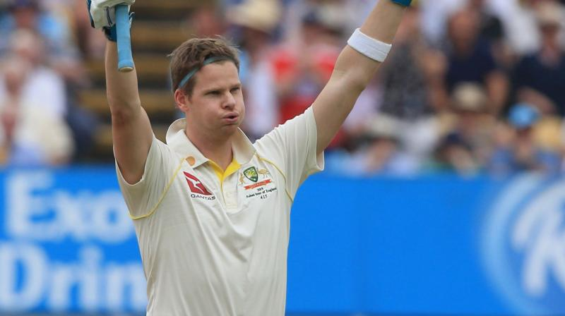 Smith, playing his first Test series after returning from a one-year ban for ball-tampering, gained a rung to reach the third position in the latest list for batsmen. (Photo: AFP)