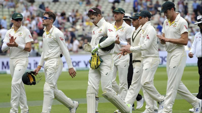 After facing a 135-run defeat at the hands of England in the final Ashes Test and equalling the series on 2-2 draw, Australia head coach Justin Langer on Monday termed the side as a 'good team which is maturing'. (Photo:AP)
