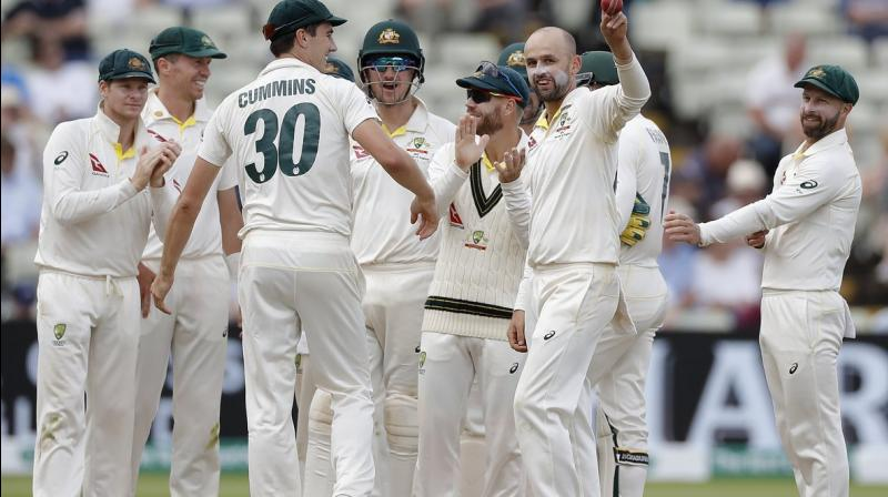 Australian spinner Nathan Lyon penetrated through England's batting order as the home side got bundled out for 146 to lose the first Test match by 251 runs. (Photo:cricket.com.au/twitter)