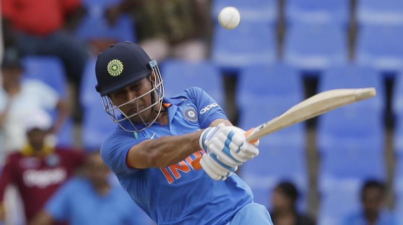 MS Dhoni's unbeaten 78 off 79 balls enabled India to post a winning score on a tough track. (Photo:AP)
