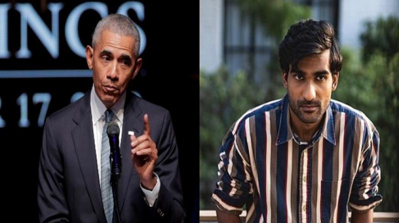 Former US President Barack Obama and Indian Musician Prateek Kuhad. (Photo: ANI)