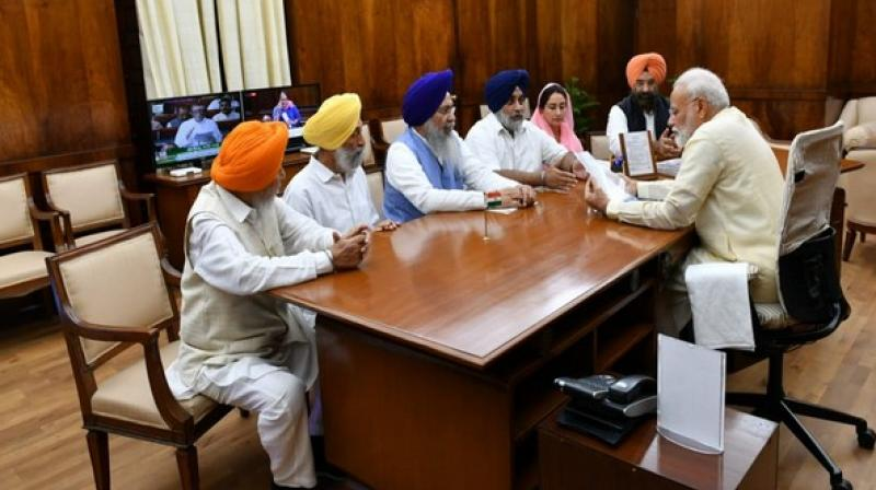 Prime Minister also instructed Ministry of External Affairs to facilitate the Nagar Kirtan that is commencing from Sri Nankana Sahib, the birthplace of Sri Guru Nanak Dev on July 25. (Photo: ANI)