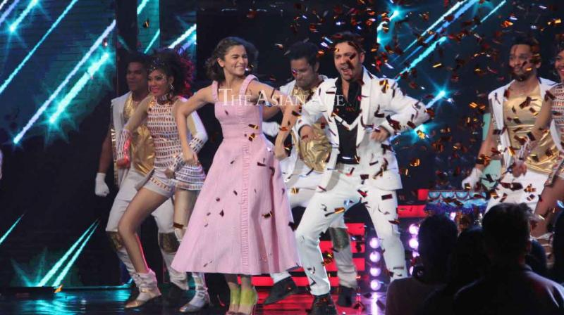 Varun Dhawan and Alia Bhatt promoted their upcoming romantic film 'Badrinath Ki Dulhania' on two reality shows on Tuesday. (Photo: Viral Bhayani)
