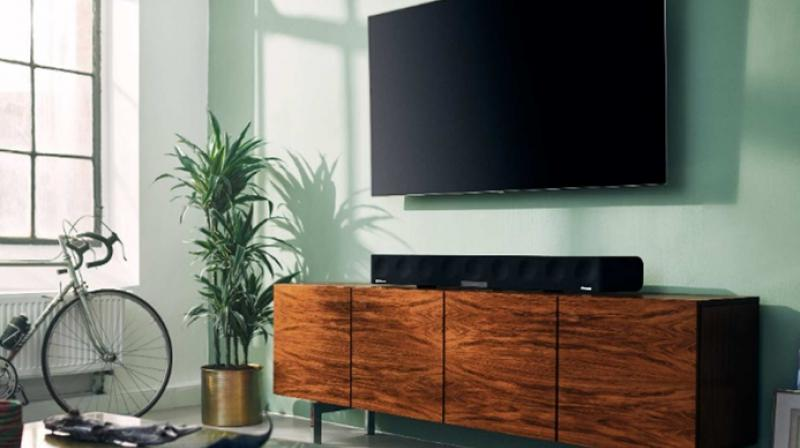 The AMBEO Soundbar delivers 3D sound that blurs the line between playback and reality from a single all-in-one device.