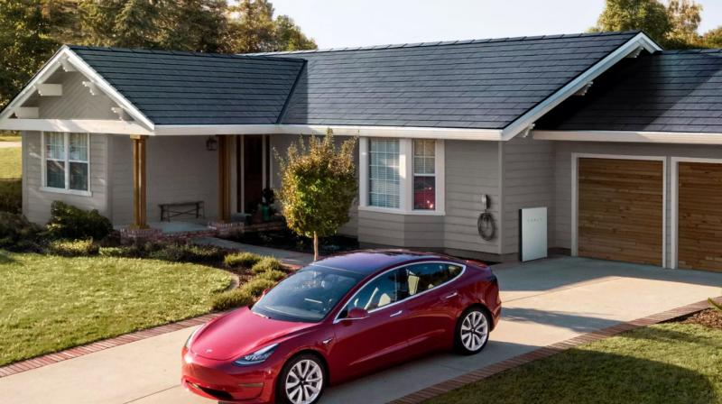 Tesla's Solar Roof consists of a durable glass roof tile.