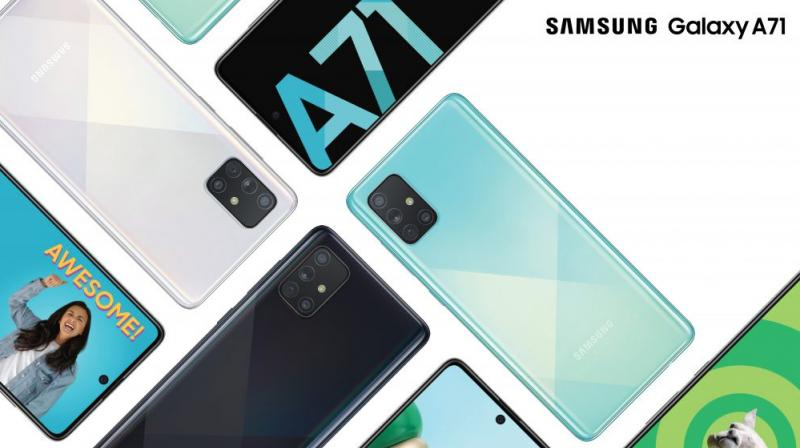 "Galaxy A71's 6.7"" Infinity-O Display with the all new Super AMOLED Plus technology, which is extremely thin and light, delivers a true immersive experience."
