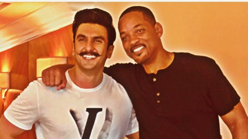 Ranveer Singh with Will Smith. (Photo: Instagram)
