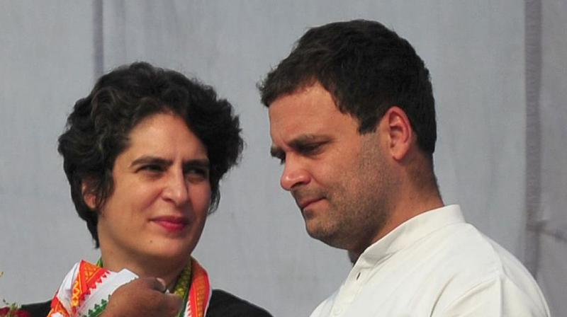 Congress leader Rahul Gandhi and party leader Priyanka Gandhi Vadra (AFP)