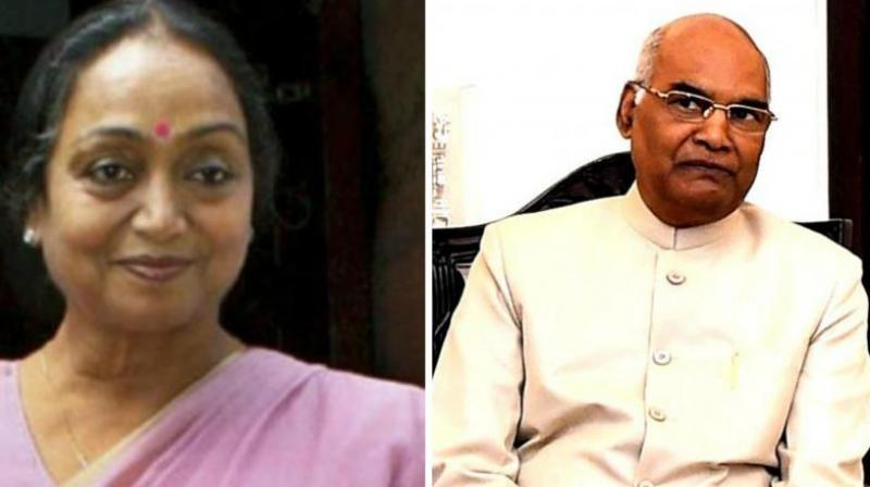 Opposition Presidential candidate Meira Kumar and NDA Presidential candidate Ram Nath Kovind. (Photo: File)