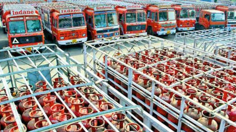 Cooking gas (LPG) subsidy has jumped by over 60 per cent in last two months as the government maintains price line despite rising international rates, Indian Oil Corp (IOC) Chairman Sanjiv Singh said.