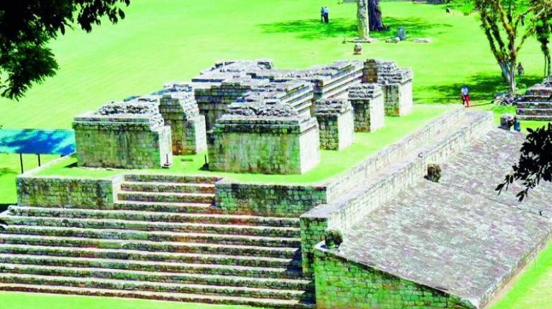 An ancient Mayan site in El Salvador