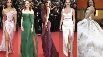 Top actors, singers from around the world graced the prestigious Cannes red carpet on Day 1.
