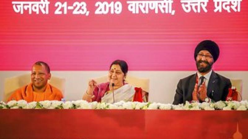'By 2022, these ageing countries will become super-aged with over one-third of their population over 65 years of age, while India will have the world's largest working population,' says External Affairs Minister Sushma Swaraj. (Photo: PTI)