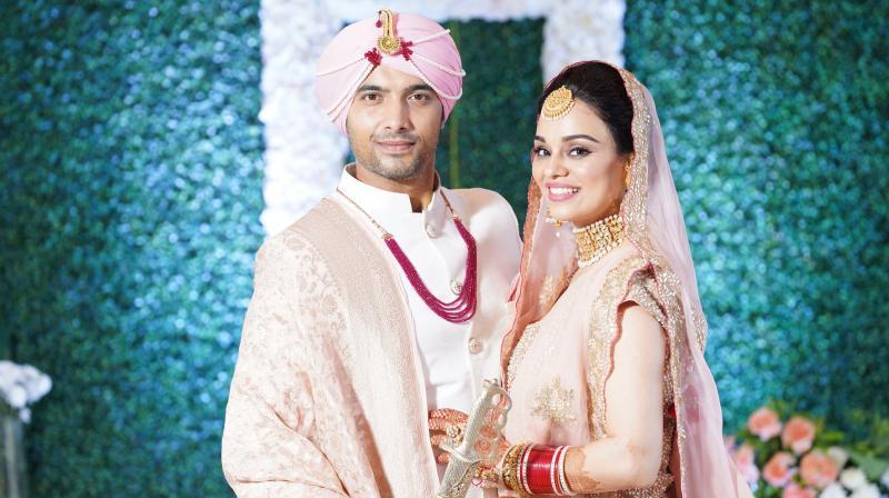 Ssharad Malhotra and his wife Ripci Bhatia.