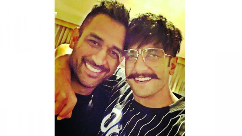 MS Dhoni and Ranveer Singh