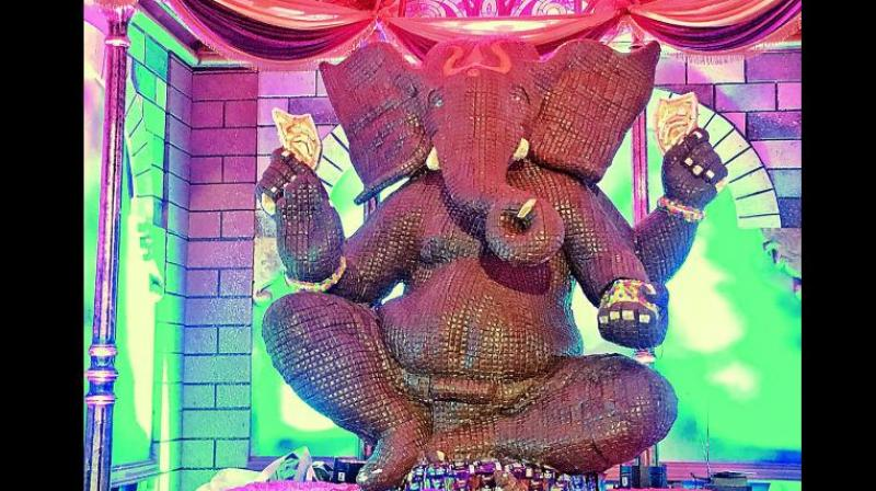 Ganesh Chaturthi is celebrated in honour of the birth of Lord Ganpati in many parts of India.