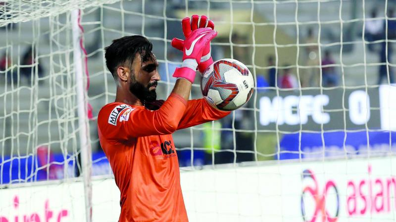 Mumbai City goalkeeper Amrinder Singh