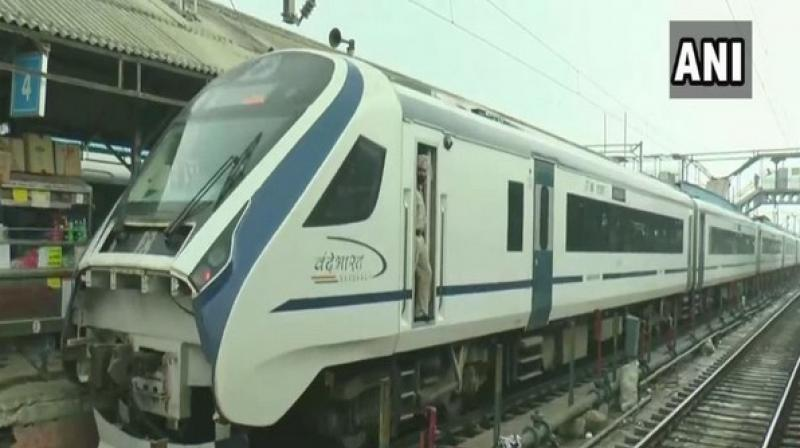 Vande Bharat's second trial run was successfully completed in Kanpur Central Railway station, earlier this month. (Photo: ANI)