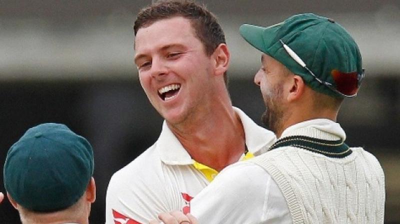 Hazlewood partnered left-arm quicks Mitchell Starc and Mitchell Johnson during Australia's 2015 World Cup triumph. (Photo: AFP)