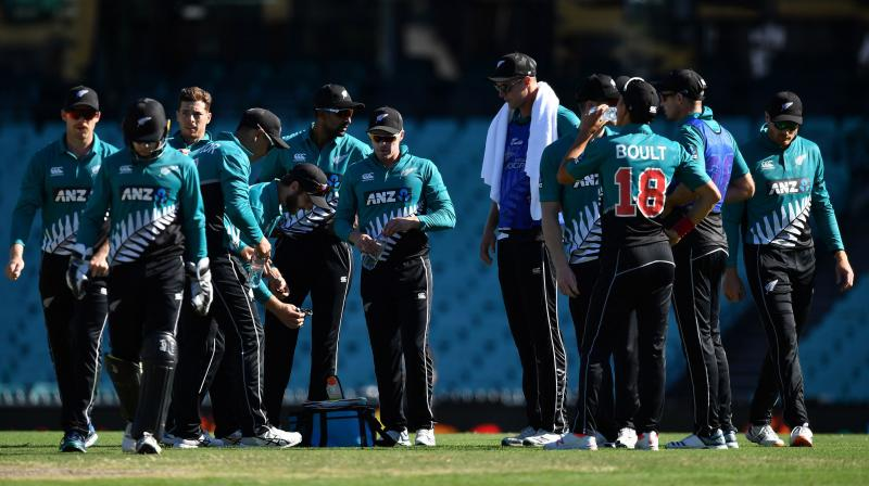 HEADING HOME: New Zealand cricketers at the Sydney cricket ground during the first ODI against Australia on Friday. AFP Photo