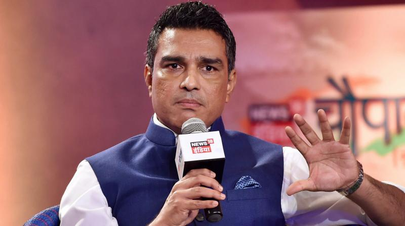 File picture of former Indian cricketer Sanjay Manjrekar participating in a television talk show in Mumbai. PTI Photo
