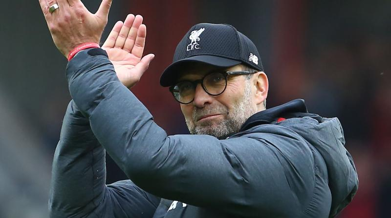 Premier League title is not on Liverpool manager Jurgen Klopp's mind. AFP Photo