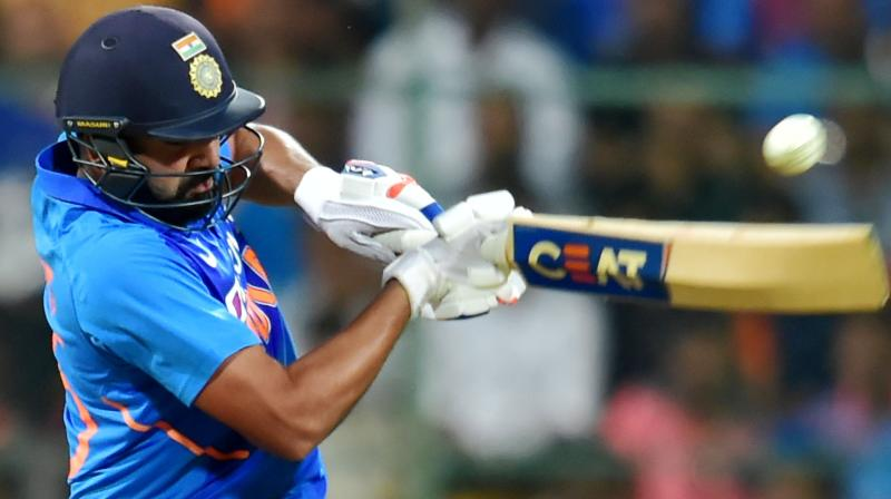 Rohit Sharma, the only to player to have scored a double ton in ODIs more than once. PTI Photo