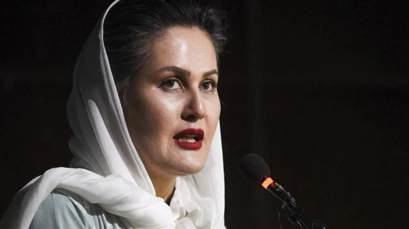 Afghanistan's most popular film personalities Sahraa Karimi. (AFP Photo)