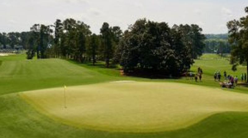 Greens at the Augusta National Golf Club.  Courtesy LinksGems