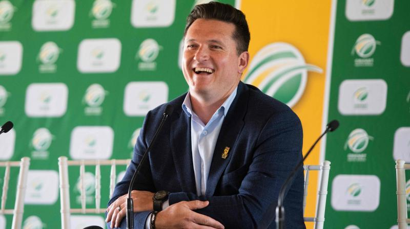 Cricket South Africa's interim director of cricket and former Test captain Graeme Smith. AFP Photo