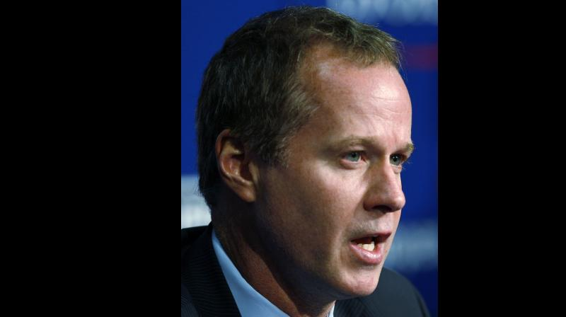 Patrick McEnroe, younger brother of legendary American tennis star John McEnroe. AP Photo