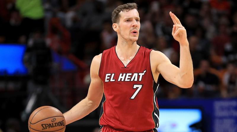 Goran Dragic of the Miami Heat.  AFP Photo