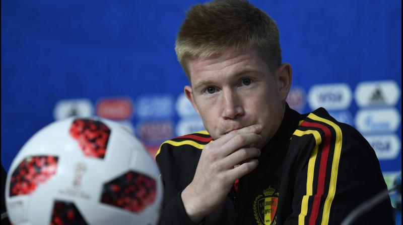 Manchester City's Belgian midfielder Kevin De Bruyne. AFP Photo