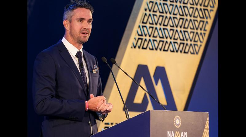 Former English cricketer Kevin Pietersen at the 6th M A K Pataudi Memorial Lecture and BCCI Awards, in Bengaluru, in 2018. PTI Photo