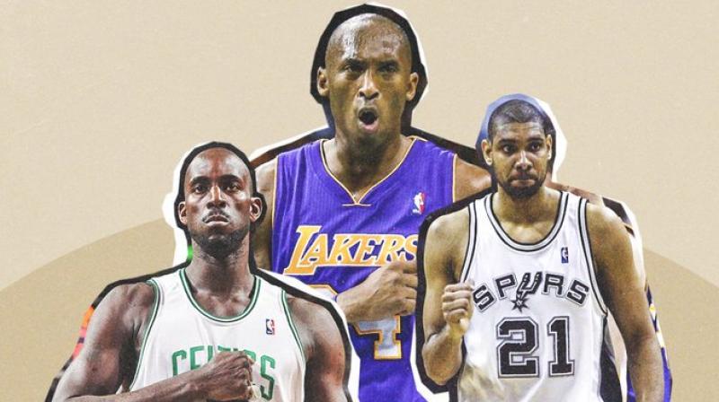 Kevin Garnett, Kobe Bryant and Tim Duncan. Courtesy ESPN