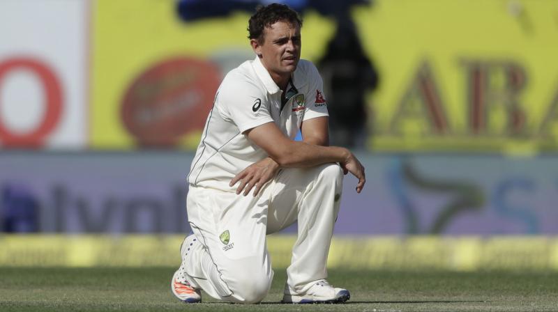 Australia's Steve O'Keefe during the 2017 India tour. AP Photo