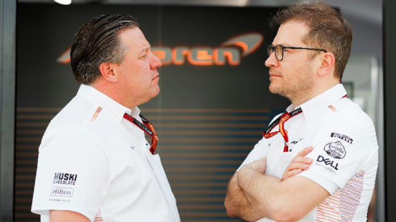 McLaren CEO Zak Brown and Team Principal Andreas Seidl.